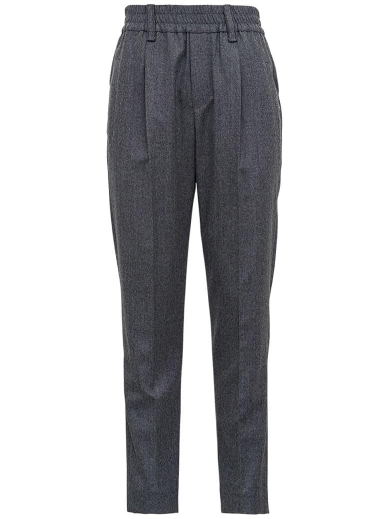 Brunello Cucinelli Gray Wool Pants - Grey