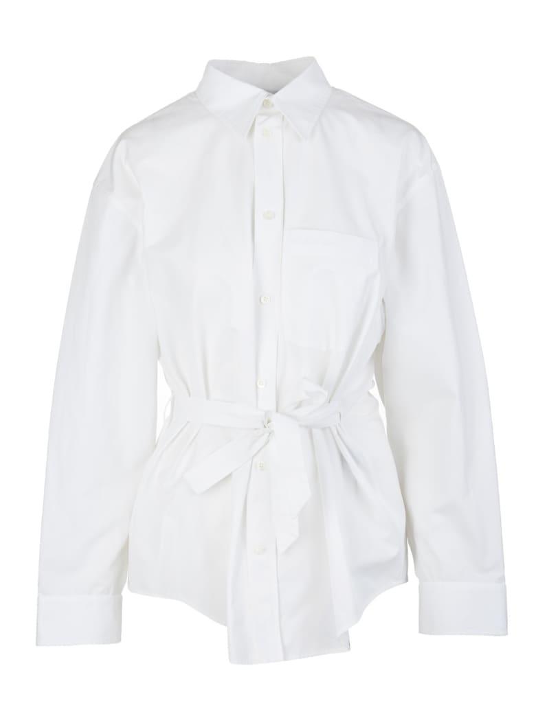 Balenciaga Woman White Shirt With Bow - White
