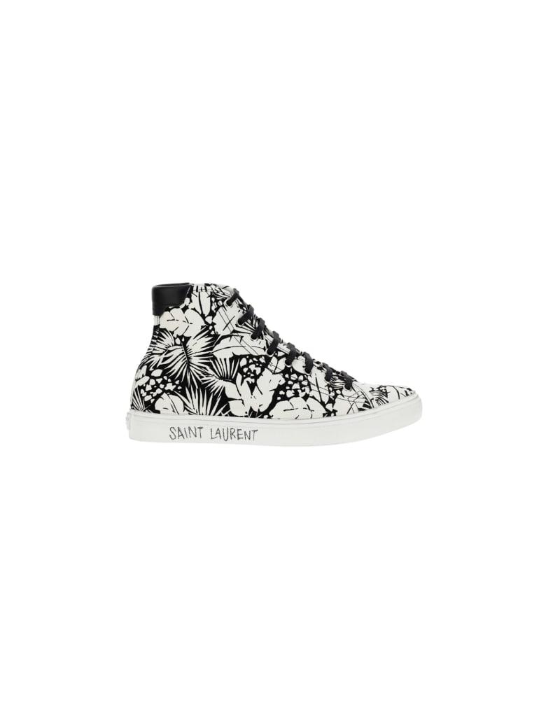 Saint Laurent Malibu Sneakers - Talco nero/nero