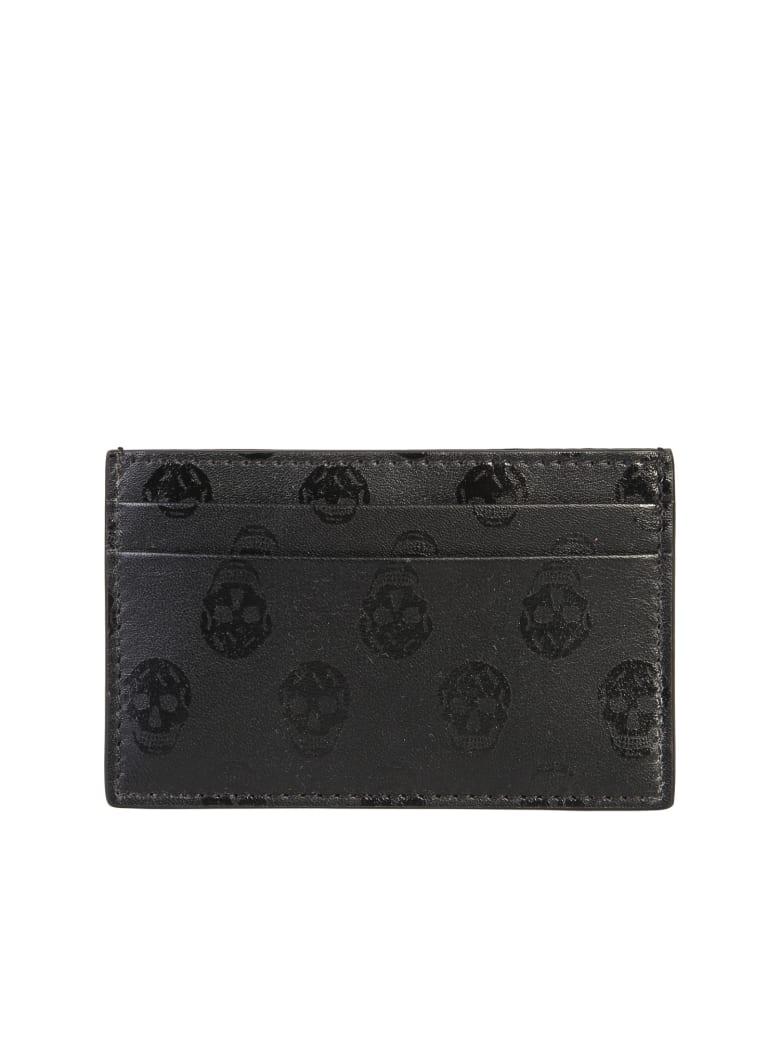 Alexander McQueen Branded Card Holder - Nero