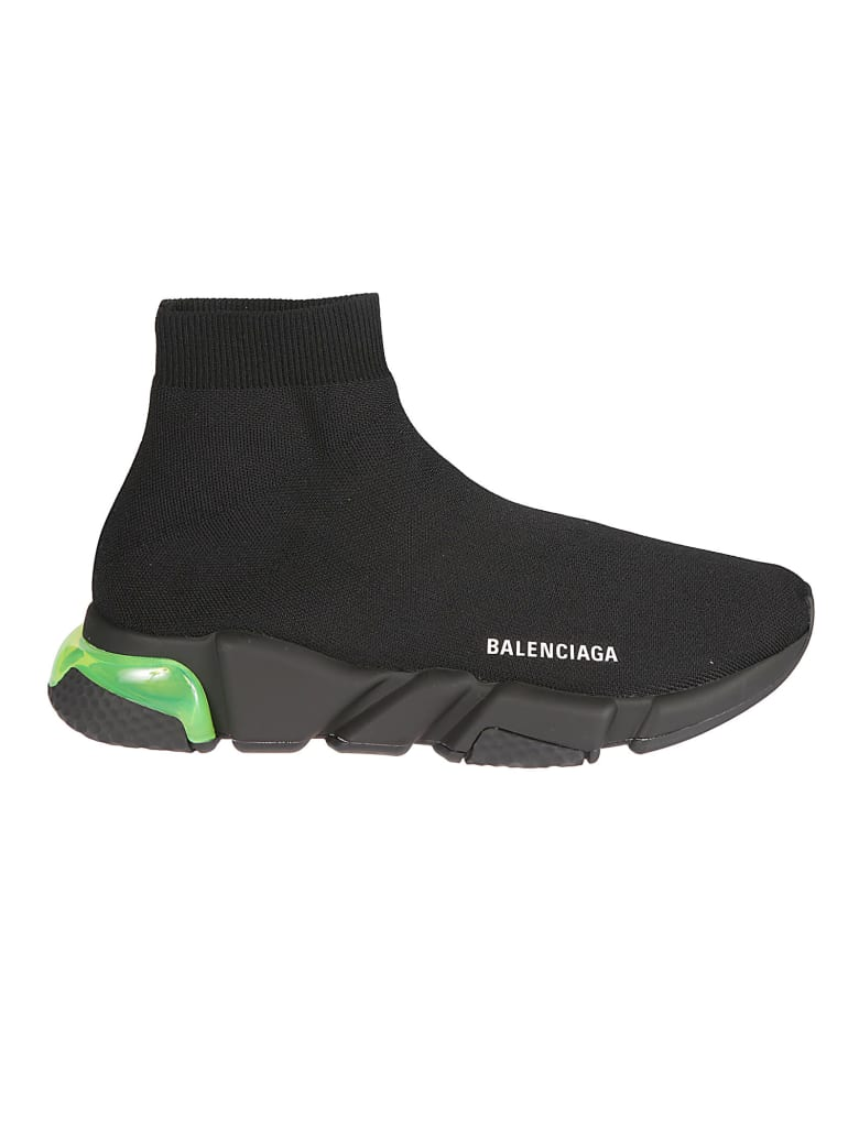 Balenciaga Speed Lt Clear Sneakers - Blk Blk Flyellow Blk