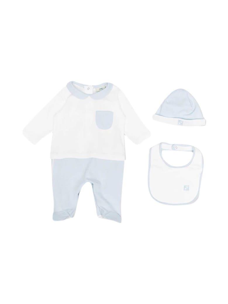 Fendi Blue Baby Set - Azzurro
