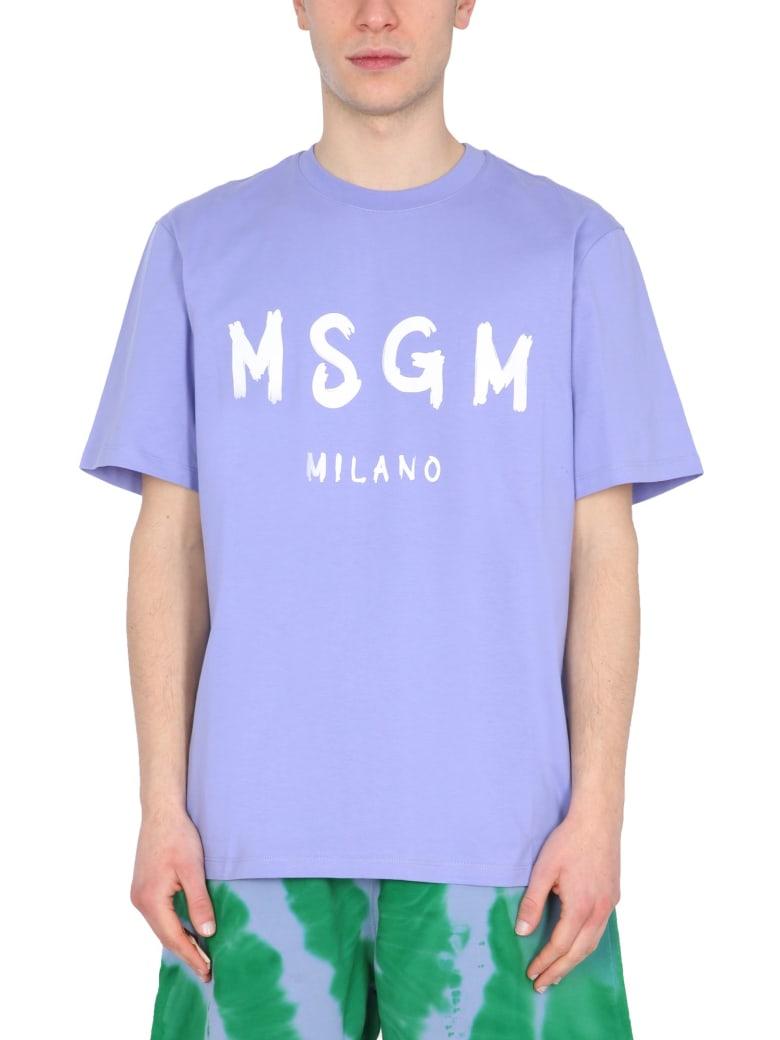 MSGM Crew Neck T-shirt - LILLA