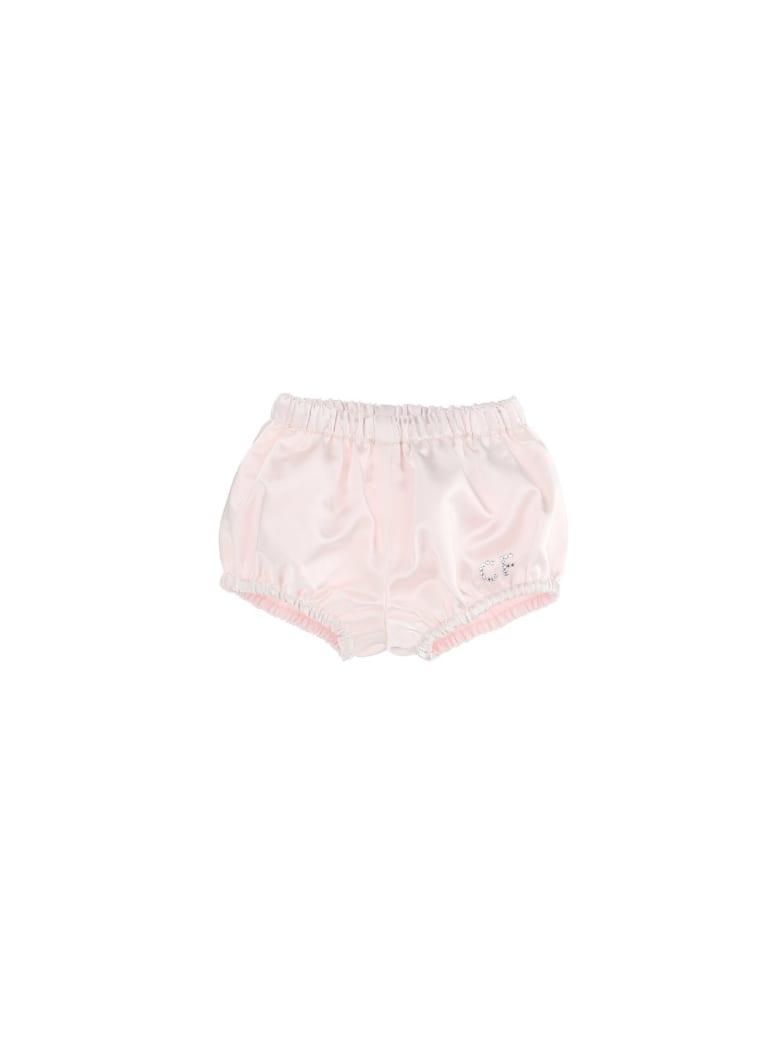 Chiara Ferragni Pink Satin Culotte With Cf Logo - Pink