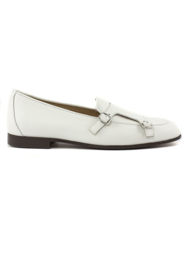 Doucal's White Leather Loafer - Bianco