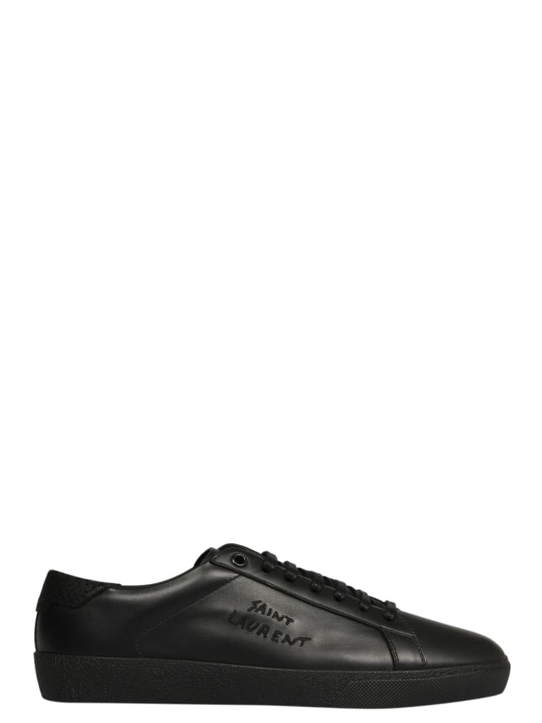 Saint Laurent Signature Court Classic Sl/06 Sneakers - Black