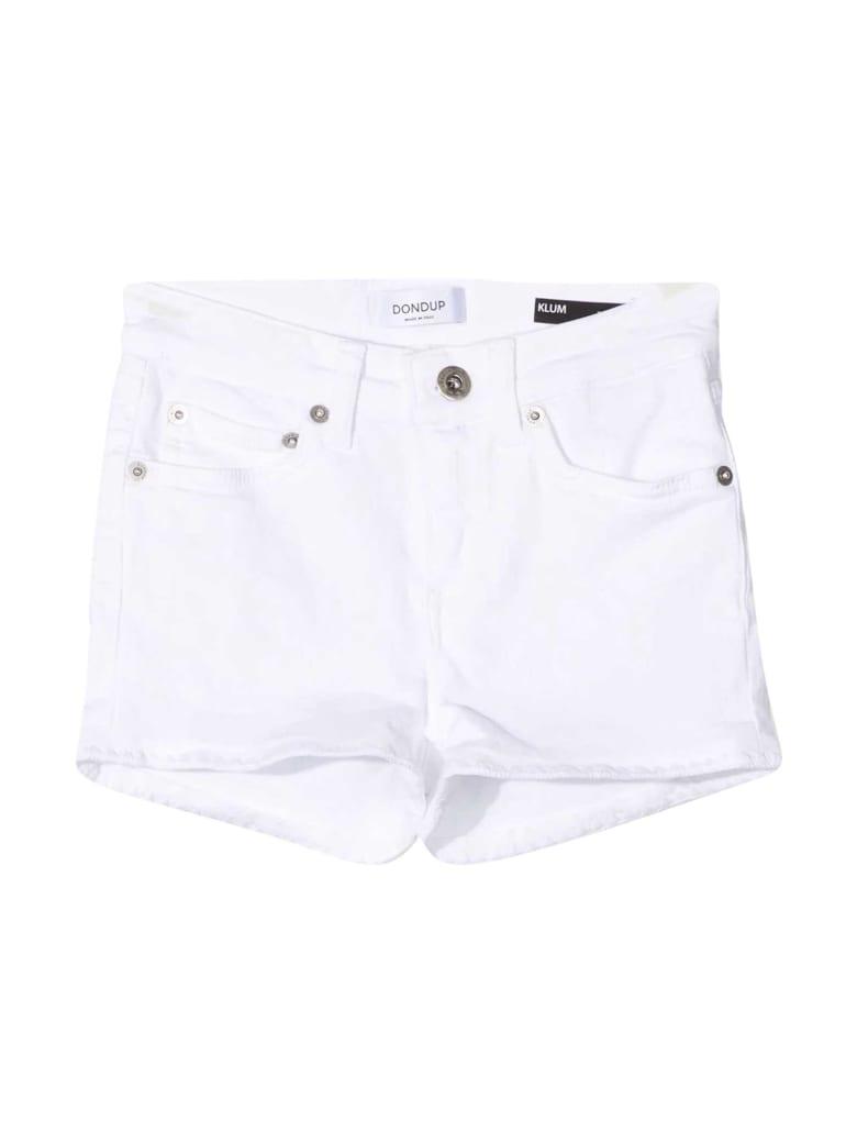 Dondup White Denim Shorts - Bianco