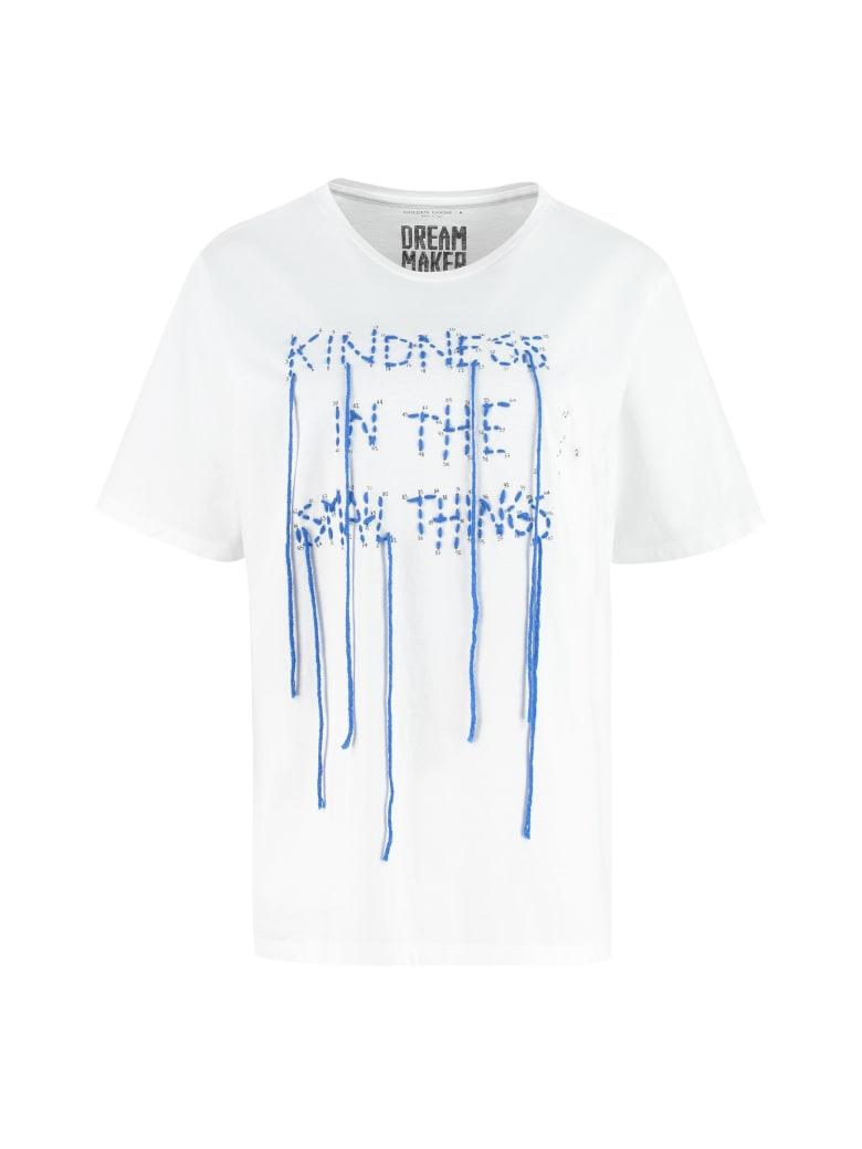 Golden Goose Aira Decorative Inserts Crew-neck T-shirt - Collezione Dream Maker - White
