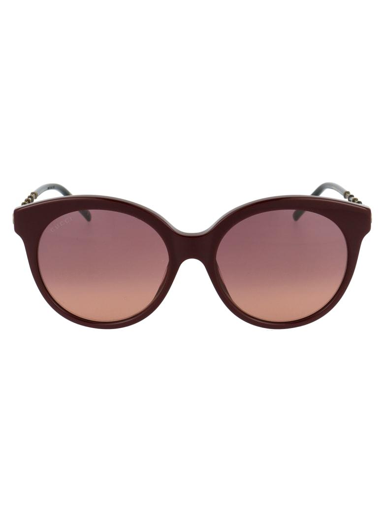 Gucci Gg0653s Sunglasses - 003 BURGUNDY GOLD VIOLET