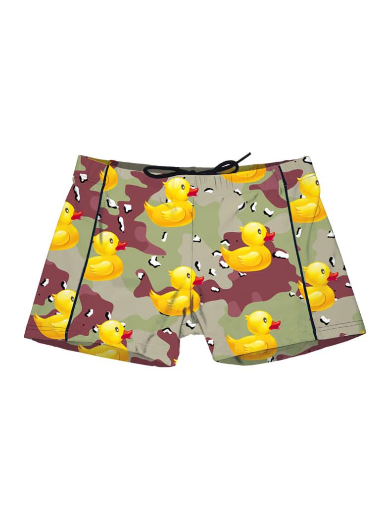 MC2 Saint Barth Boy Lycra Trunks Ducky Camouflage Print