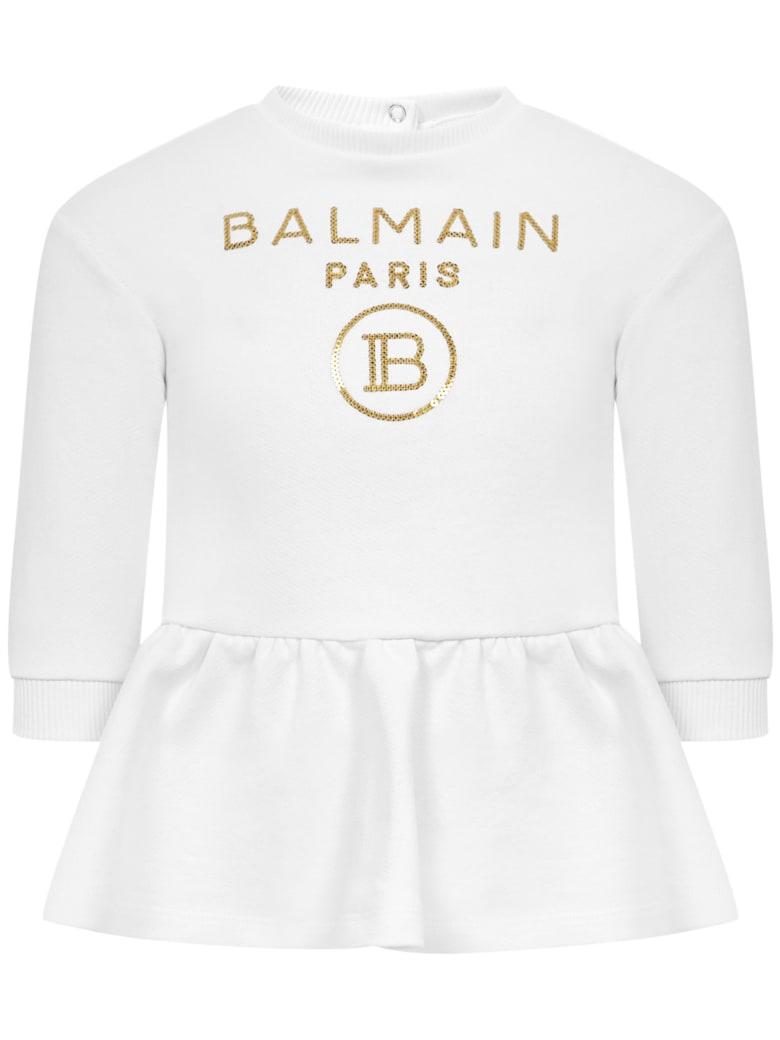 Balmain Paris Kids Dress - White