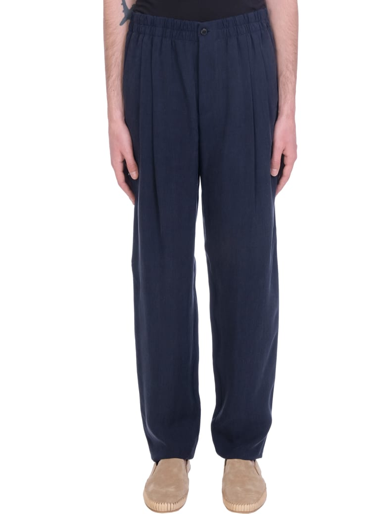 Giorgio Armani Pants In Blue Polyamide Polyester - blue