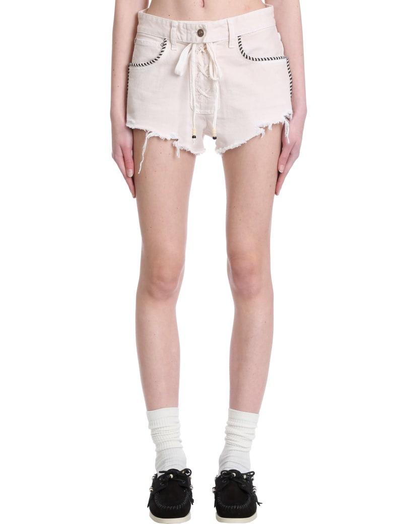 Alanui Shorts In Beige Cotton - beige