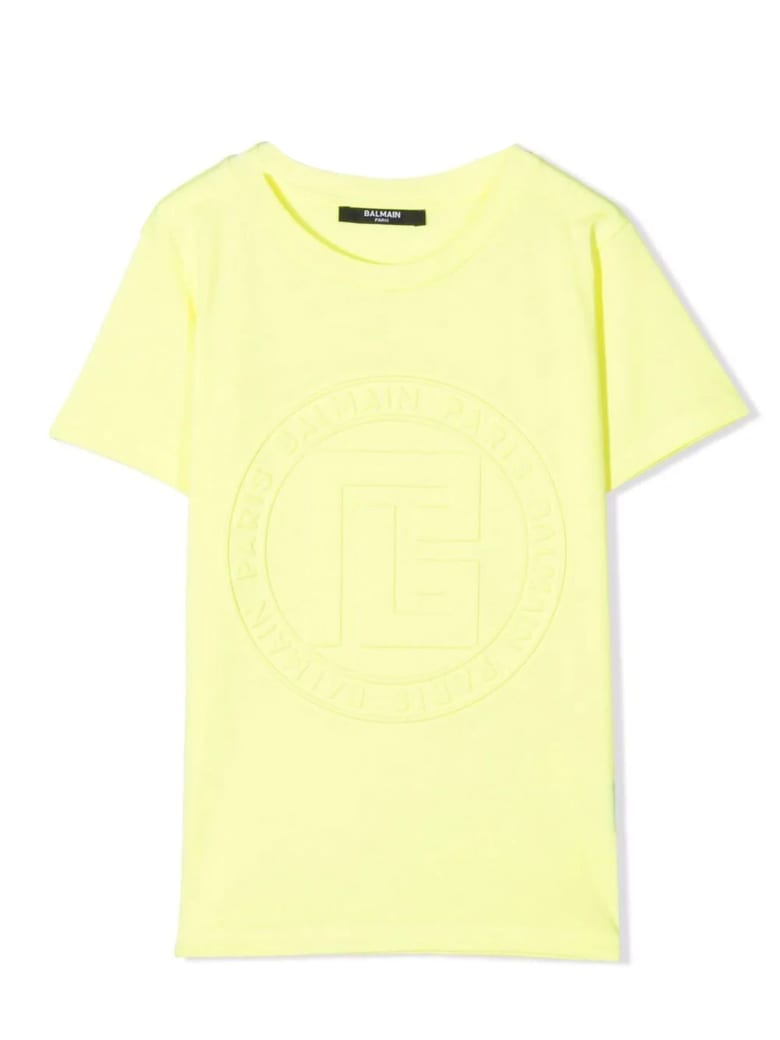Balmain Yellow Cotton T-shirt - Giallo