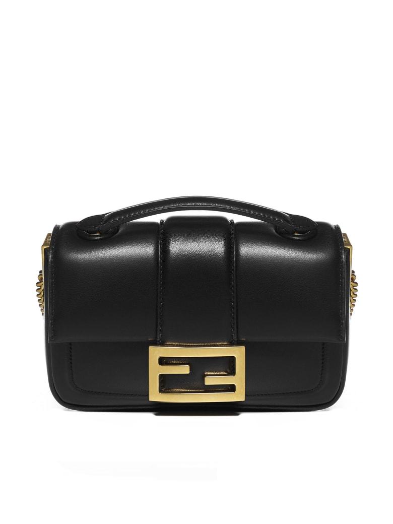 Fendi Baguette Mini Leather Bag - Nero