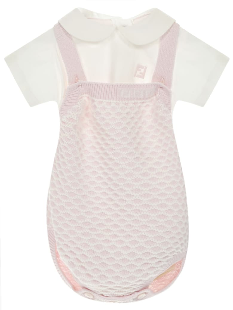 Fendi Kids Romper Suit - Pink