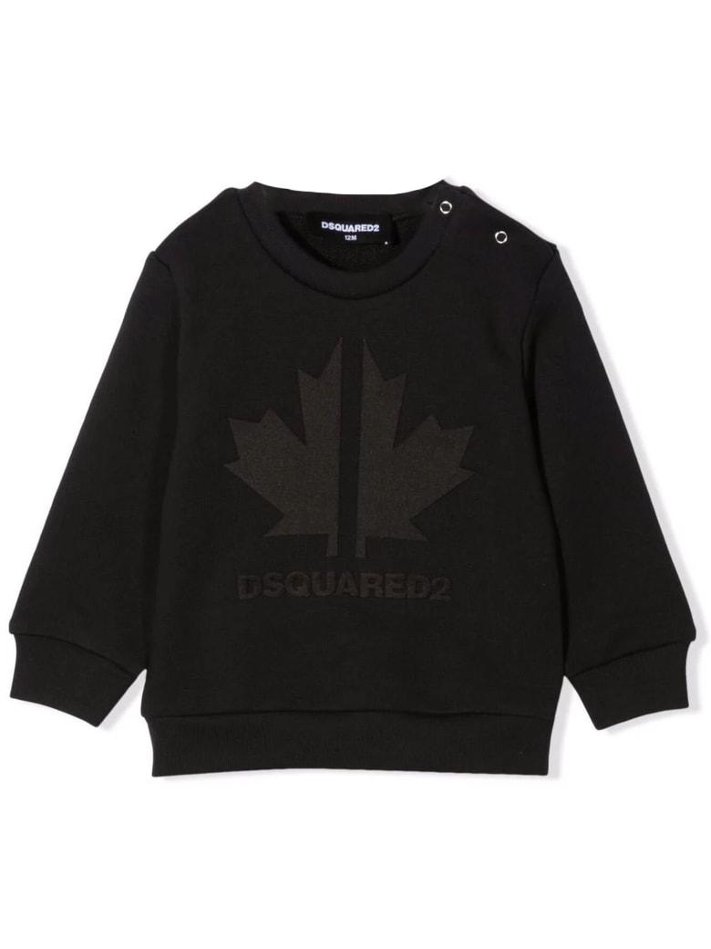 Dsquared2 Black Cotton Sweatshirt - Nero