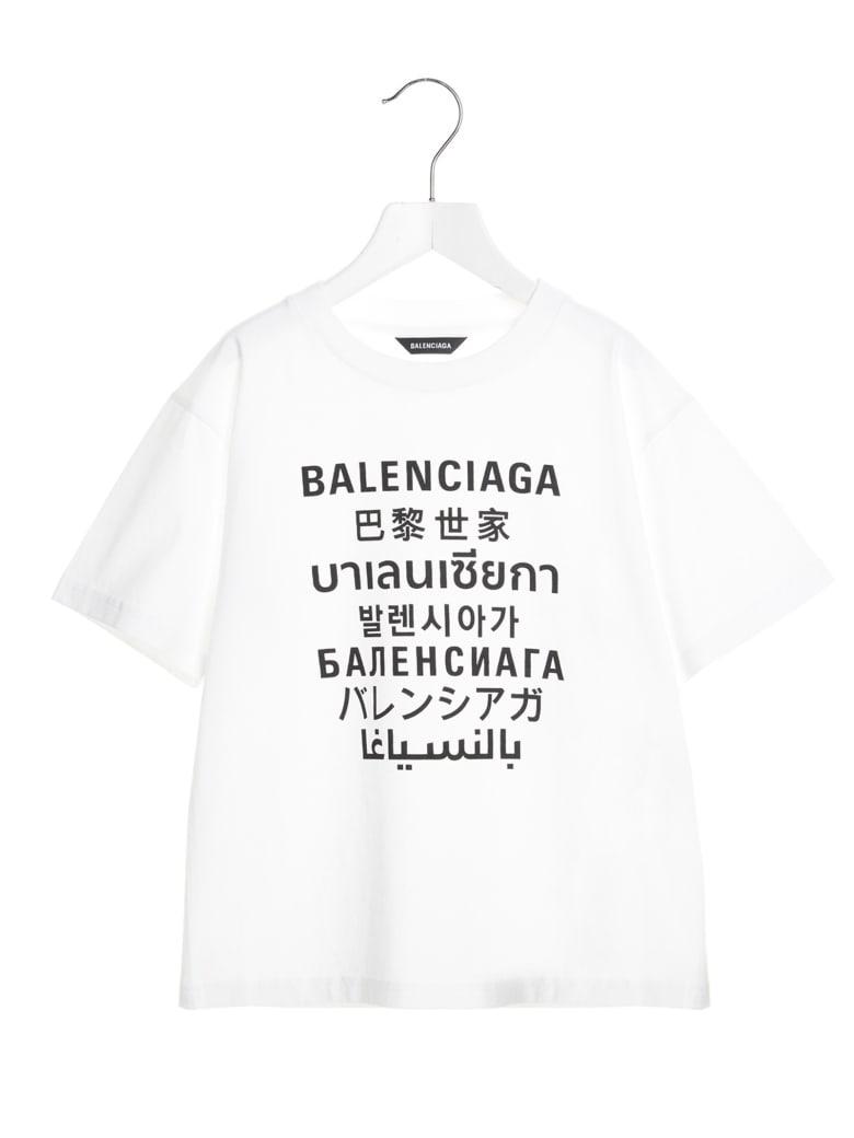 Balenciaga 'languages' T-shirt - Black&White