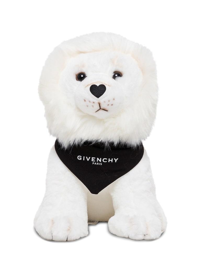 Givenchy Lion Whitetoy With Logoed Bandana - White