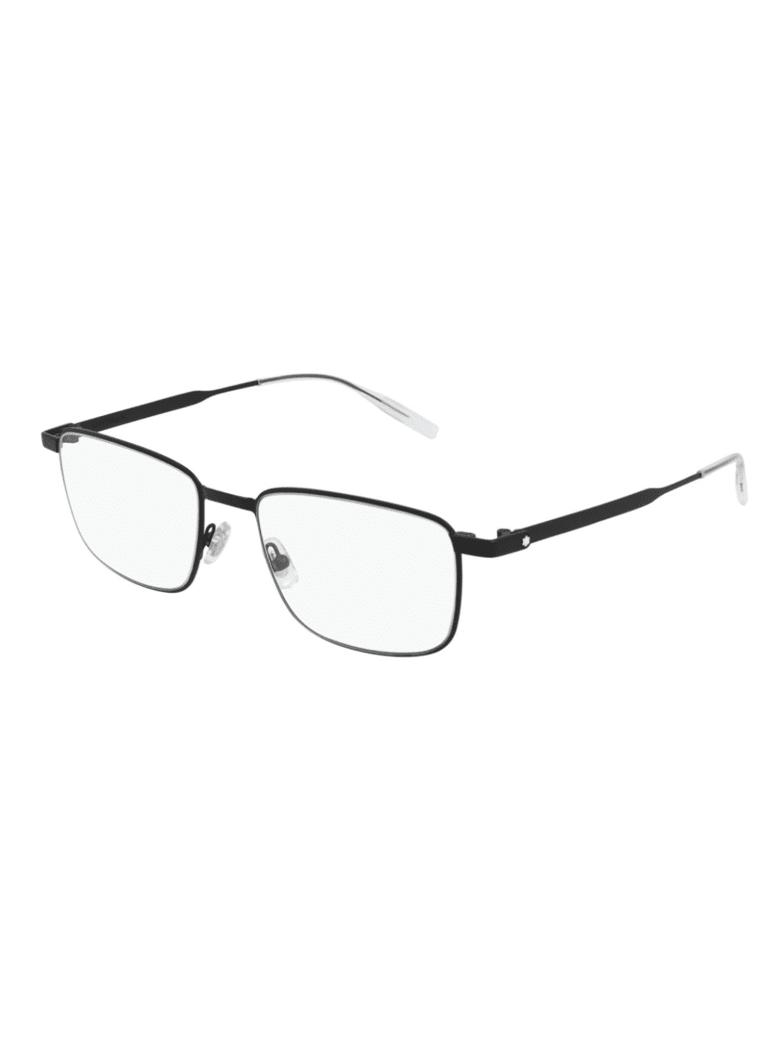 Montblanc MB0146O Eyewear - Black Black Transpare