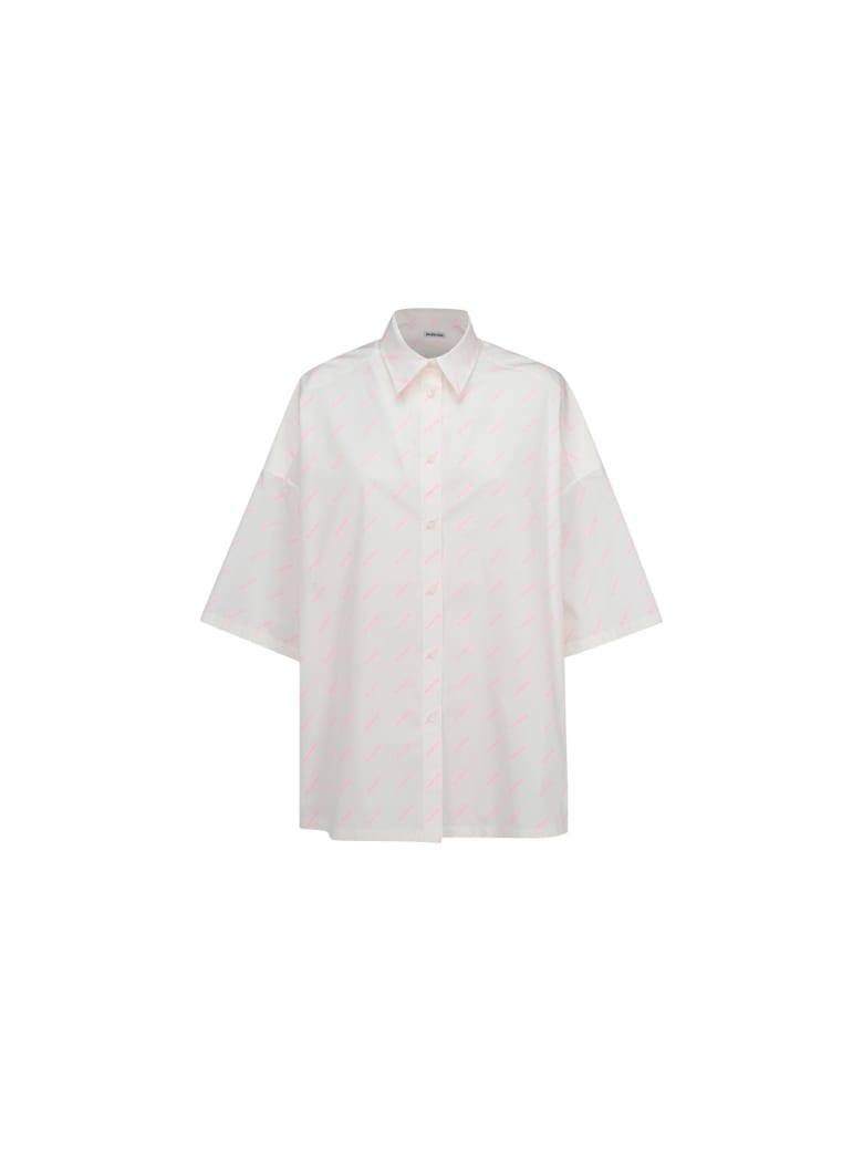 Balenciaga Shirt - White/fluo pink
