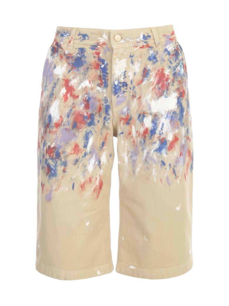 Philosophy di Lorenzo Serafini Cotton Printed Shorts - Beige