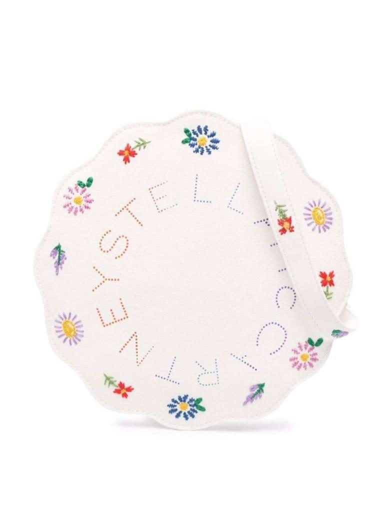 Stella McCartney Kids Cotton Crossbody Bag With Floral Logo - White