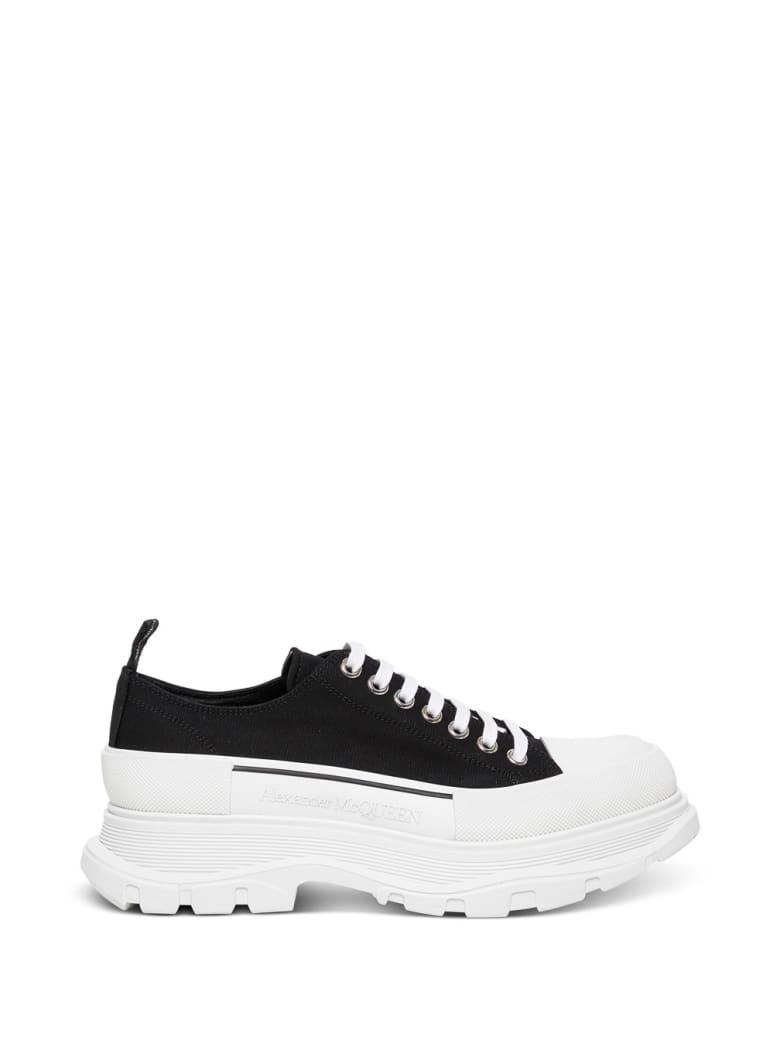 Alexander McQueen Tread Slick Lace-up Sneakers - Black