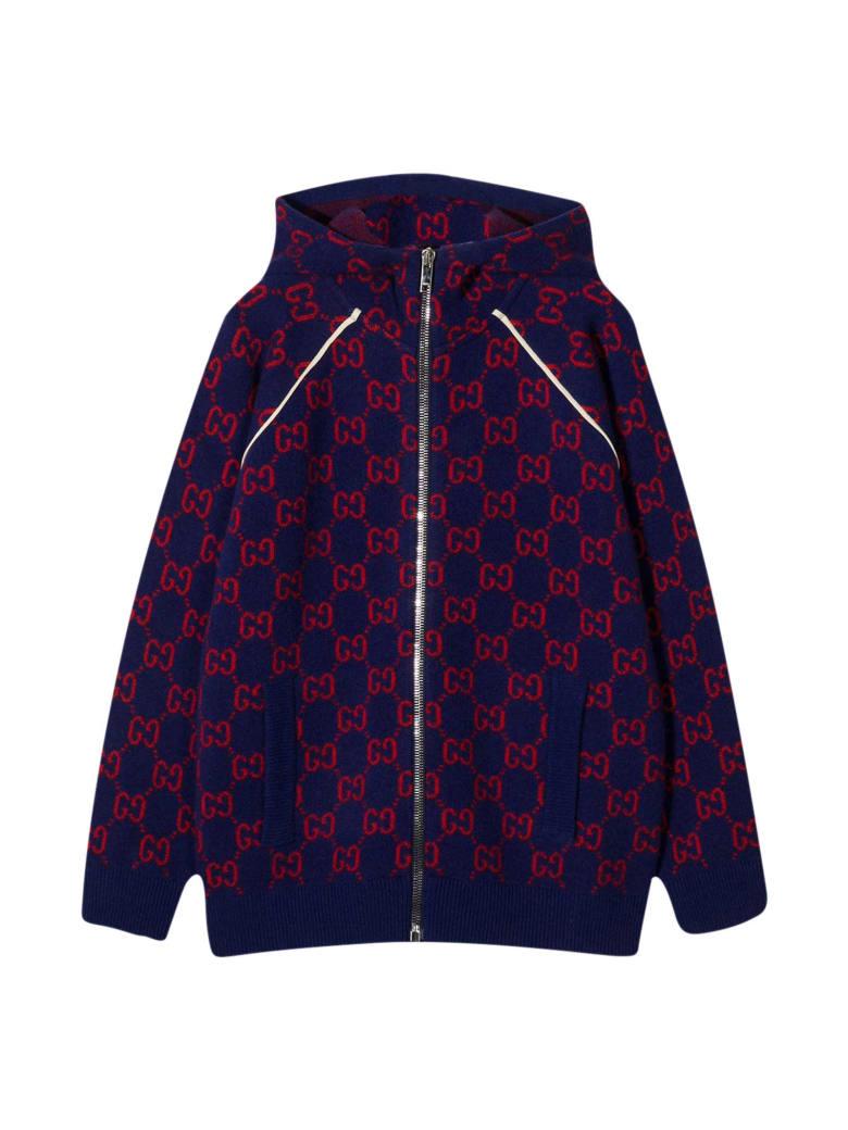 Gucci Blue Sweatshirt - Rosso