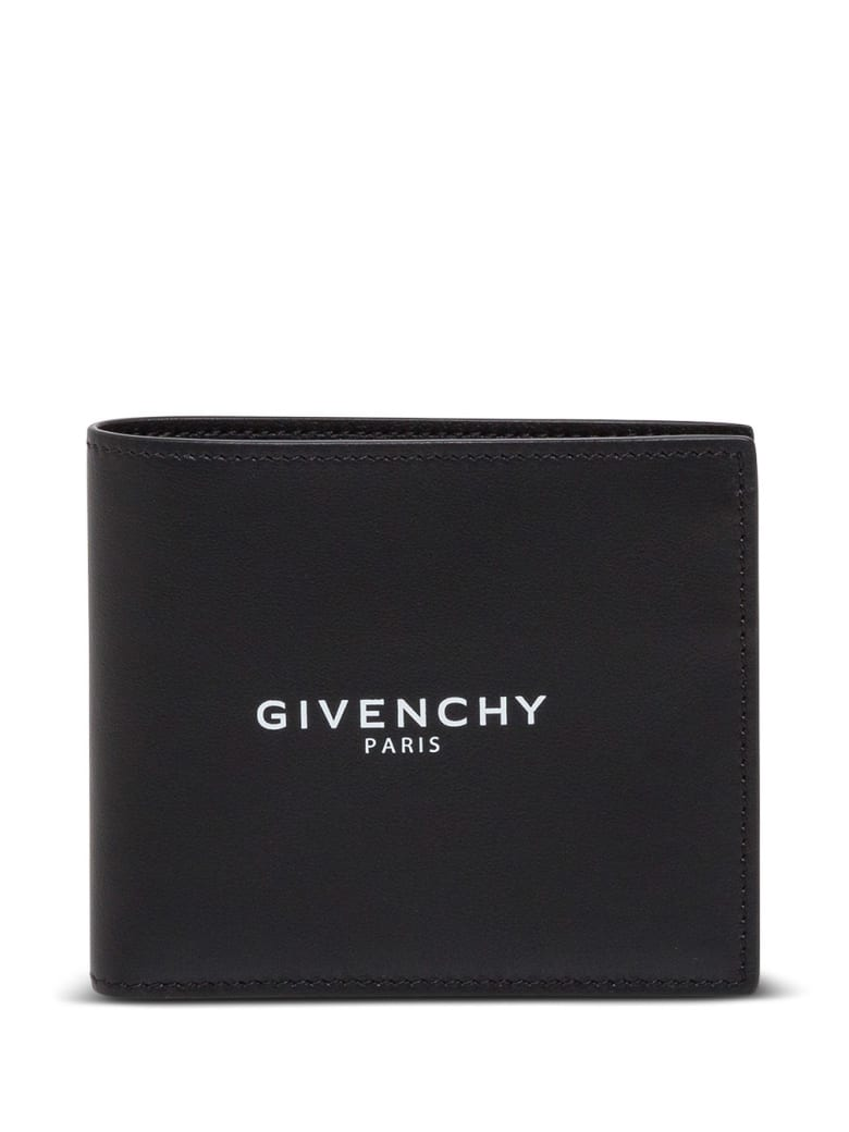 Givenchy Bifold Fragment Leather Wallet - Nero