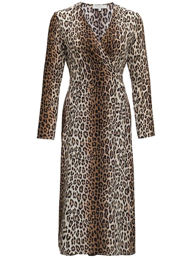 Antonelli Orfeo Long Dress In Animalier Silk - Brown