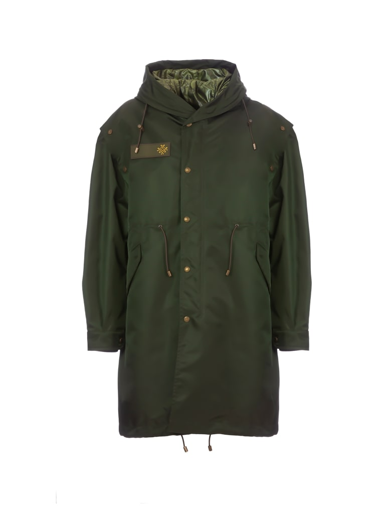 Mr & Mrs Italy Audrey Tritto Capsule Woman Nylon Parka M51 - LONDON GREEN / CAMOU ARMY/LONDON GREEN