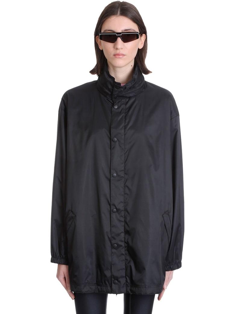 Balenciaga Casual Jacket In Black Polyester - black