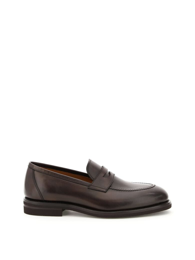 Henderson Baracco Betis Leather Penny Loafers - ESPRESSO (Brown)