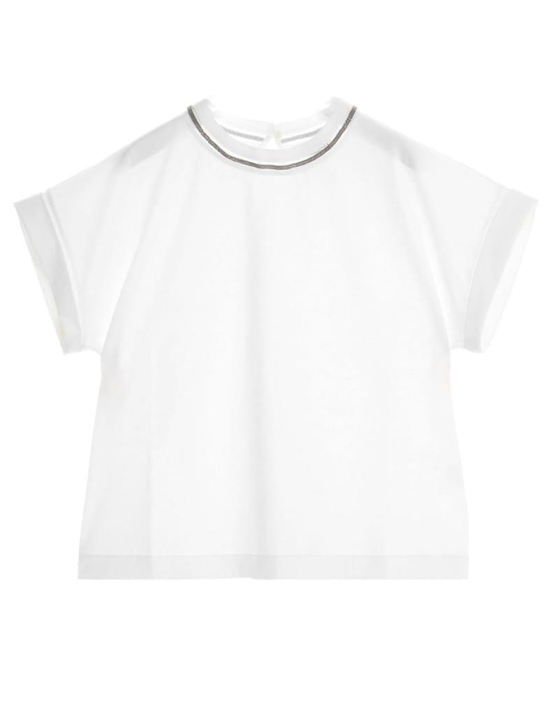 Brunello Cucinelli White Cotton T-shirt - Bianco