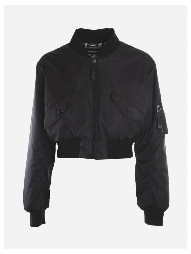 Dolce & Gabbana Padded Nylon Jacket - Black