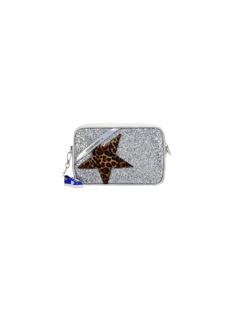 Golden Goose Glitter Star Bag - Silver/leo