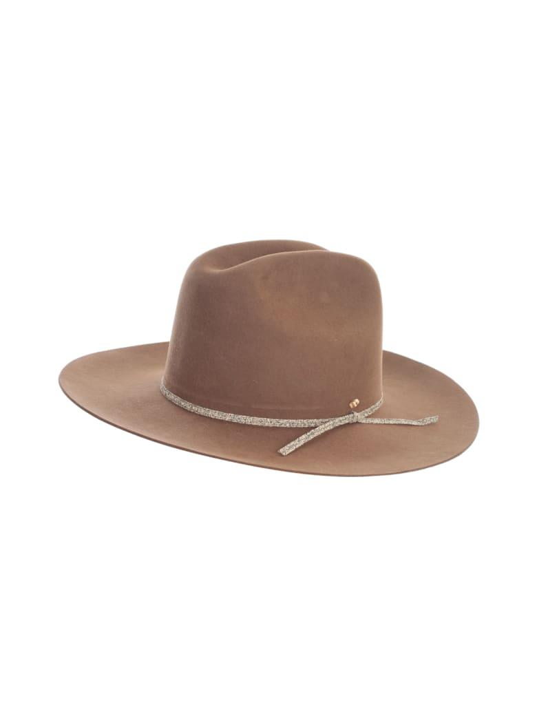 Super Duper Hats Western Crown Large Row Brim Nat Stone Detail - Pony