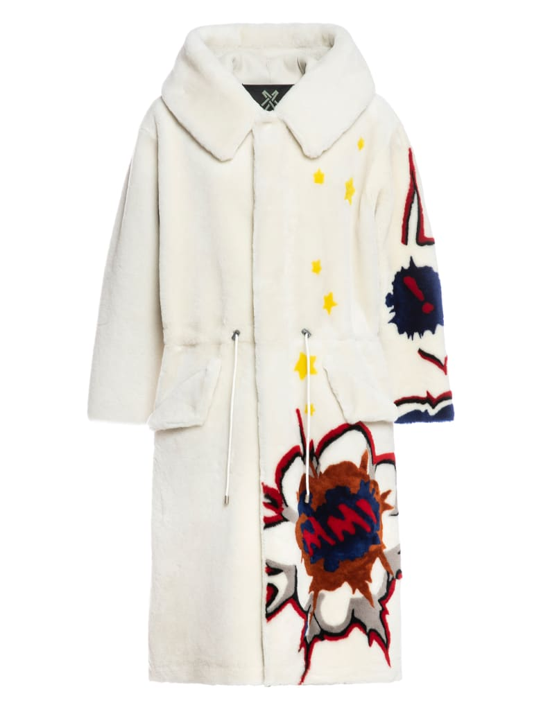 Mr & Mrs Italy Parka M51 For Woman In Shearling - WHITE / WHITE