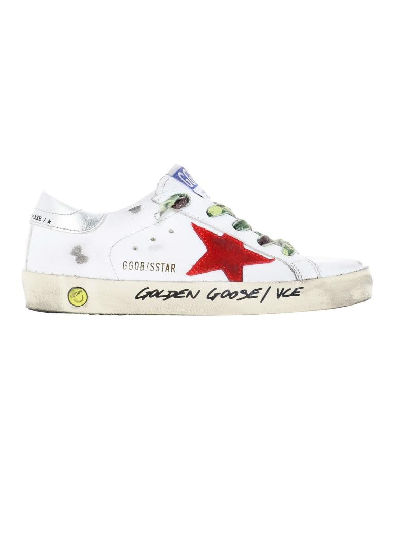 Golden Goose Super-star Low-top Sneakers - Bianco+rosso