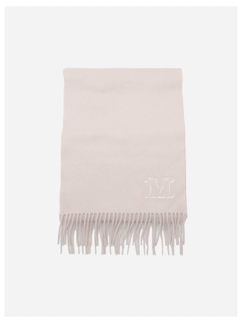 Max Mara Wsdalia Cashmere Scarf With Logo Embroidery - Pink