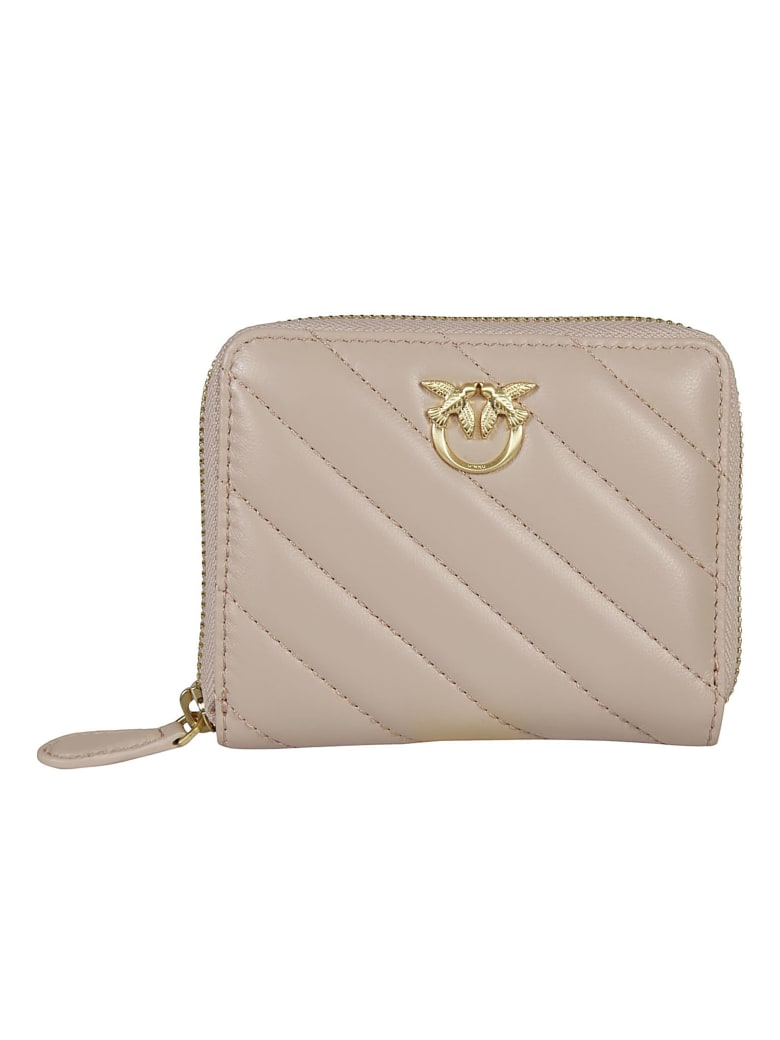 Pinko Taylor Simply Zip-around Quilted Wallet - Powder