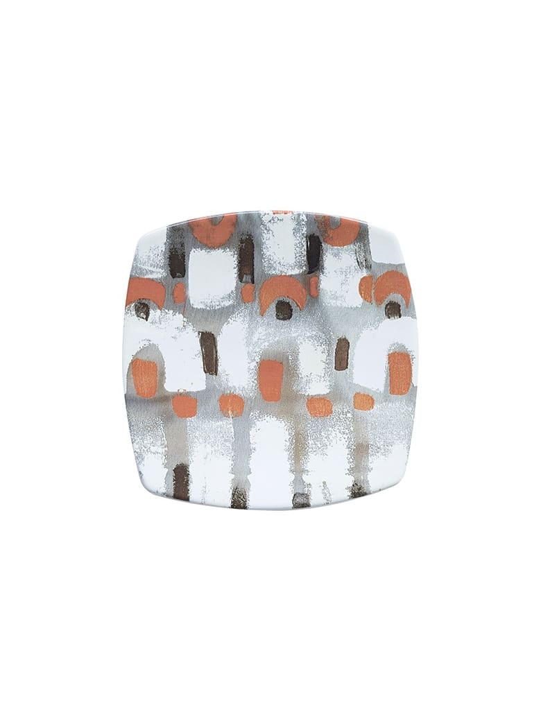 Le Botteghe su Gologone Plates Square Ceramic Colores 20,5x20,5 Cm - Gray