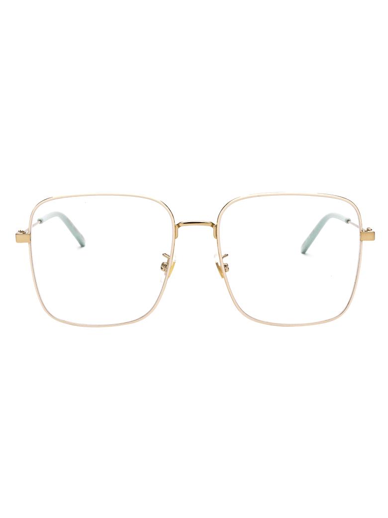 Gucci Gg0445o Glasses - 004 GOLD GOLD TRANSPARENT