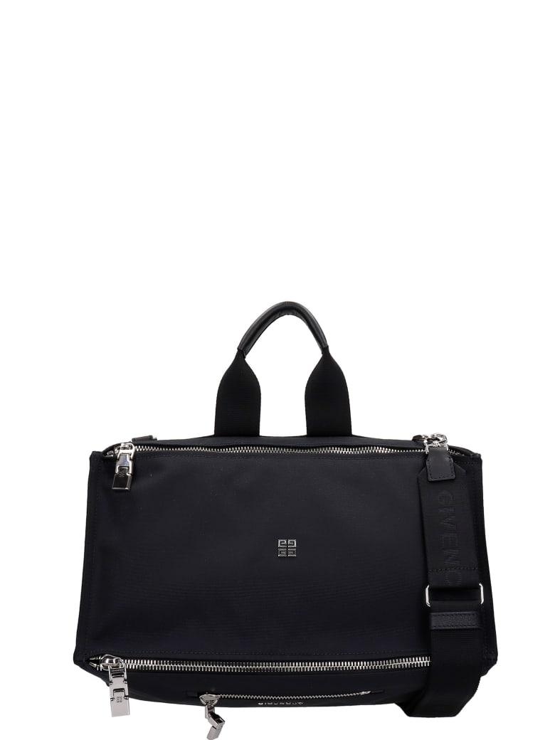 Givenchy Pandora Hand Bag In Black Canvas