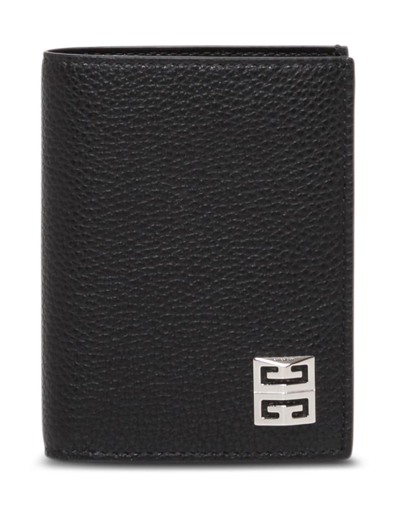 Givenchy Black Leather Card Holder With Logo - Black