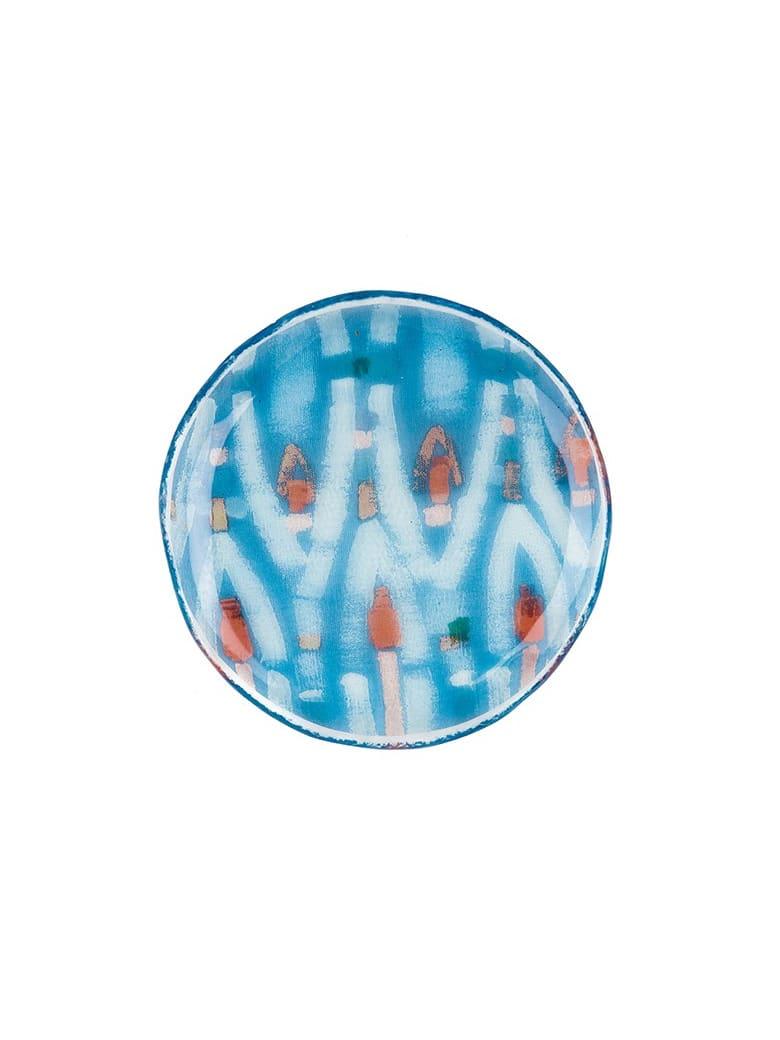 Le Botteghe su Gologone Plates White Murano Glass Colores 1 Bowl  20 Cm - Fantasy Cyan