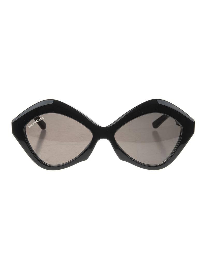 Balenciaga Woman Black Power Cat Sunglasses - Black