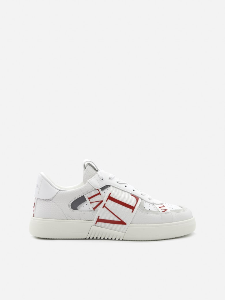 Valentino Garavani Vl7n Low-top Sneakers In Leather - White, red