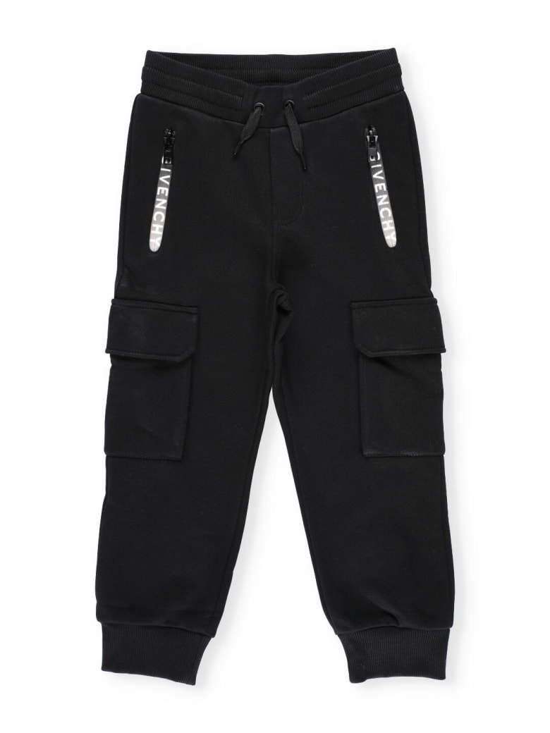 Givenchy Track Pants With Logo - Black